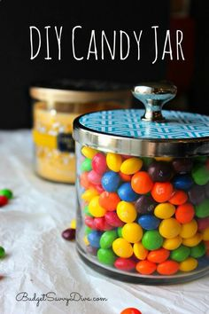 A DIY Candy Jar recycling Bath  Body Works Jars - Post has FULL instructions but video - perfect for Mothers Day