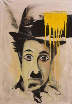 "Saatchi Art Artist Florin Coman; Painting, ""Charlie Chaplin Portrait 3"" #art"