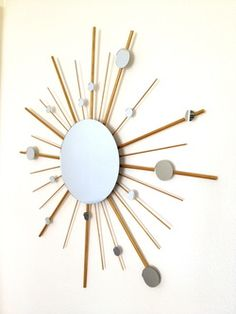 Atomic Starburst mirror DIY - LilahV blog  george nelson mirror made for just $20!