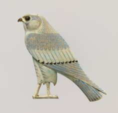 """amntenofre: """" the God Horus in His form of sacred falcon; faience inlay from Khmoun/Shmoun (Hermopolis Megale), IV century BCE. Now in the Metropolitan Museum… """" Ancient Aliens, Ancient History, European History, American History, Objets Antiques, Ancient Egyptian Jewelry, Art Antique, Egypt Art, Ancient Artifacts"""