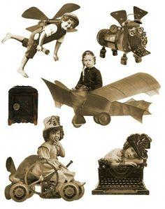 Steampunk Fairy Printable Vintage Sepia Paper by AlteredArtifacts Vintage Ephemera, Vintage Paper, Collage Sheet, Collage Art, Kirigami, Steampunk Fairy, Examples Of Art, Digital Collage, Paper Dolls