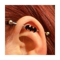 Steel Batman industrial barbell ($7.95) ❤ liked on Polyvore