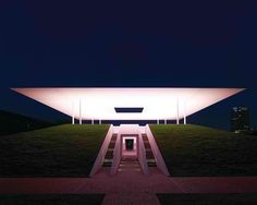 """The """"Twilight Epiphany"""" Skyspace by James Turrell at Rice University in Houston… Rice University, James Turrell, Light Architecture, Light Installation, Epiphany, Light Colors, Wind Turbine, Twilight, Houston"""