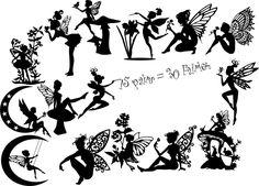 Die Cut Silhouette - FAIRIES D Medium x 30 assorted Card making, Fairy Jars in   eBay