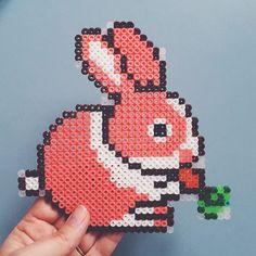 Easter bunny hama perler beads by clara_hagen