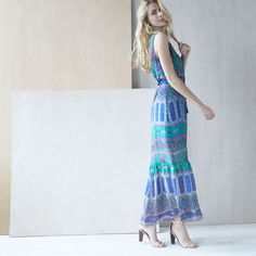 Stay comfortable AND chic in a belted maxi dress.