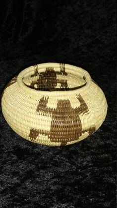 Panamanian Handwoven Basket from Museo Del Cana Interoceanico De Panama by AngelsAllAroundyou on Etsy