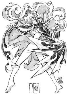 Manga Art, Manga Anime, Anime Art, Lagann Gurren, Gurren Laggan, Character Art, Character Design, Robot Concept Art, Skullgirls