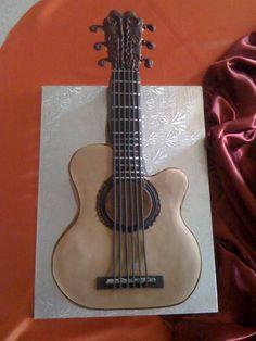 Acoustic Guitar grooms cake ;)