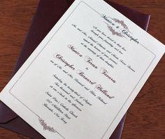 Monogrammed framed wedding invitation with stunning filigree design for a classic and elegant wedding.  | Invitations by Ajalon | invitationsbyajalon.com