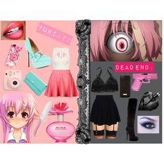 Anime Inspired Outfit: Gasai Yuno, created by catlourenco on Polyvore