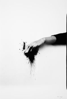 Helena Almeida, Black Exit, 1995, Black and white photograph, 71 x 48 cm