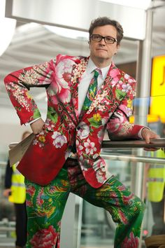 Pattern on Patter in Menswear Colin Firth ZsaZsa Bellagio – Like No Other