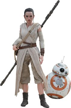 Star Wars: The Force Awakens Rey and BB-8 figures by Hot Toys