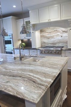 T saved to KitchenPin61fantasy brown granite kitchen traditional ..