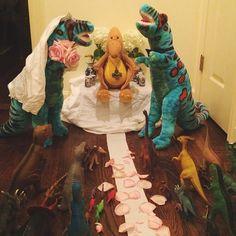 A dinosaur wedding for Dinovember.: