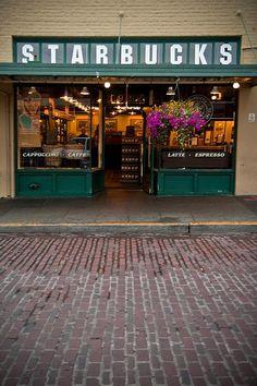 The Original Starbucks - Pike's Place Market - Seattle; Washington
