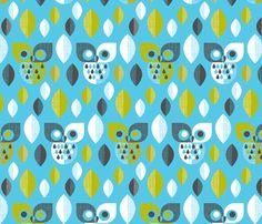 Mod owls fabric by cjldesigns on Spoonflower - custom fabric