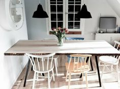 Fedt spisebord Furniture, Hay Stand, Interior, Diy Table, Dinner Room, Dining Table, Table, Home Decor, Home Diy