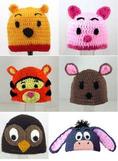 Gorros Crochet Baby Hats, Love Crochet, Bonnet Crochet, Crochet Cap, Crochet Beanie, Crochet For Kids, Knitted Hats, Crochet Patron, Crochet Character Hats