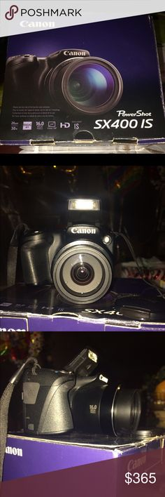 CANON PowerShot SX400 IS New Canon PowerShot SX400 IS in Black with battery pack, battery charger, wrist strap, lens cap. MEMORY CARD NOT INCLUDED!!!!! canon Other