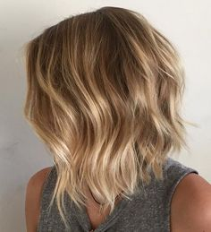 Messy Bronde Bob with Jagged Ends