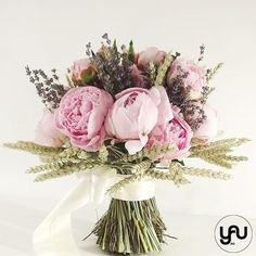 Buchet bujori grau si lavanda _ B83 – YaU concept Wedding Bouquets, Concept, Crown, Corona, Wedding Brooch Bouquets, Bridal Bouquets, Wedding Bouquet, Wedding Flowers, Crowns