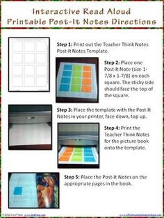 FREE Twas the Night Before Christmas Interactive Read Aloud Teacher Notes that you can print onto Post-It notes! How cool is that?
