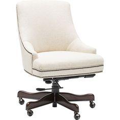 Executive Swivel Chair, Chateau Linen - Hooker