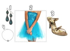 Bella Thorne's look for less     1. Claire's Turquoise Stone and Antique Gold Drop Earrings ($7.50)     2. Trixxi Strapless Sequin Tulle Dress ($99)     3. Chinese Laundry Remy Shimmer Heels ($49.99)     4. Target Two Tone Heart Link Bracelet ($14.99)