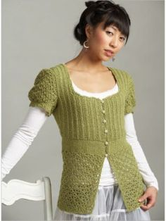 Afghan Stitch Sweater 26