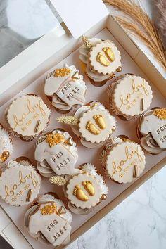 Baby Shower Cupcakes, Desserts, Tailgate Desserts, Deserts, Postres, Dessert, Cupcake Baby Showers, Plated Desserts