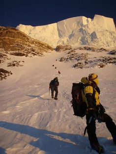 Famous Glacier near the top (at the height of 8300 M) of K2 Mountain (8611 M ) , Pakistan .