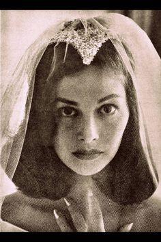 Pier Angeli on her wedding day November 1954