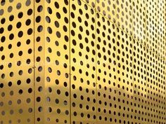 perforated gold metal panels