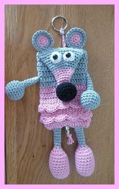 amigurumi, crochet, porte-clé souris
