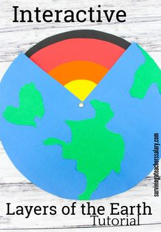 "Interactive Earth Science ""Layers of the Earth"" paper activity project. Full step by step photo tutorial for earth science lessons - great for #EarthDay too! Sizes for paper layers are given, just cut and attach! Or laminate to make it last longer in a classroom! #earthscience #science #school #stem #homeschool #teachers #classroom #education #kidscraft #learning #earth"