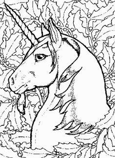 Detailed Coloring Pages for Adults | Detailed Unicorn Colouring Pages wallpaper