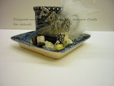 Designed and handmade by Lady Jasmine Crafts  A sweet mini cup and saucer