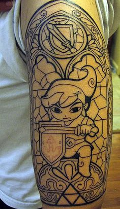 cool video game tattoo