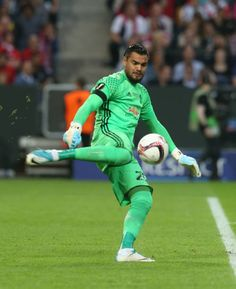Sergio Romero Of Manchester United In Action During The Uefa