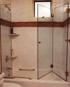 frameless 3 panel glass tub doors - | DIY For the Home | Pinterest ...