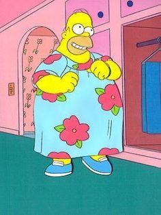 Homer in a muumuu . . .I feel like that some days!!