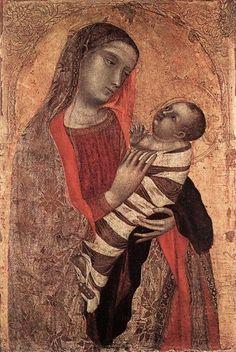Ambrogio Lorenzetti | Ambrogio Lorenzetti - Madonna col Bambino .