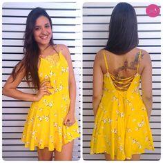 Um vestido lindo, leve e cheio de luz! #Vemprazas