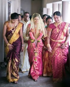 A traditional Tamil wedding is fixed by the parents. The compatibility of the bride and the groom are determined on the basis of their horoscopes amidst family. The overseeing priest consults the Lagna Pathrigai and decides on the right date, time, and venue.     Plan your tamil wedding with us . Email us at - info@myshaadiwale... or call us at +91 - 80 - 64041818