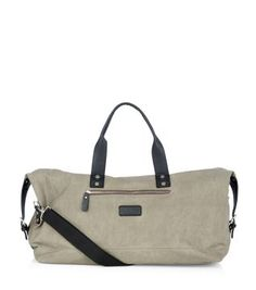 Weekend away with the guys? This Stone Waxed Canvas Holdall Bag is just what you need.