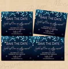 Night Sky Editable Wedding Save the Dates 5.5 x by BrownPaperMoon, $12.00