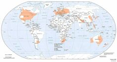 Whenever I think of tornadoes I think of Midwest USA, but there are tornadoes all over the world. This map showing (in orange) where tornadoes happen in the world is pretty interesting, at least for me ; Tornados, Thunderstorms, Free Printable World Map, Printable Maps, What Is A Tornado, Tornado Map, Tornado Pics, Tornado Alley, World Political Map