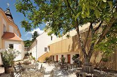 Areál Café fara v Klentnici